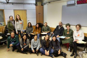 הסטודנטים בקליניקה המשפטית לסיוע לנשים בענייני משפחה במרכז רקמן עברו סדנת סימולציות